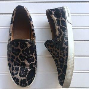 Jimmy Choo Demi Leopard- Print Calf Hair Sneakers